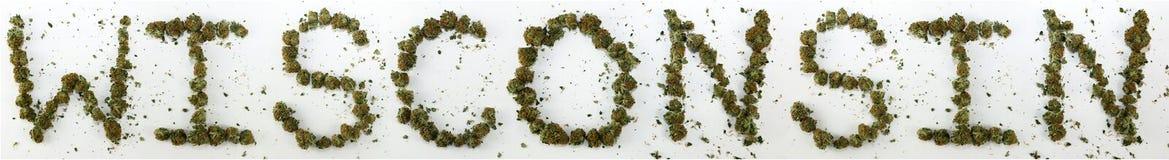 Wisconsin soletrou com marijuana Fotografia de Stock