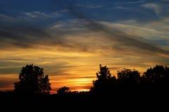 Wisconsin solnedgång royaltyfria bilder