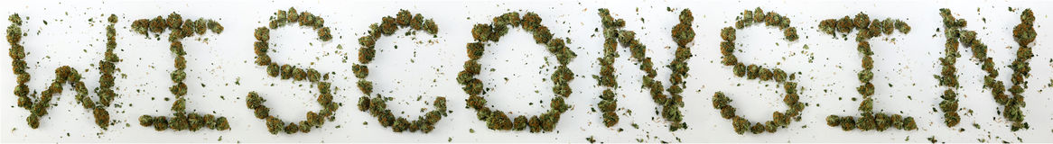 Wisconsin Spelled With Marijuana Stock Photography