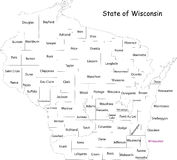 Wisconsin state Royalty Free Stock Photos