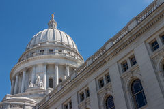 Wisconsin State Capital. The capital building in Madison, Wisconsin royalty free stock image