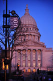 Wisconsin State Capitol Building. Capitol Building in Madison, Wisconsin, view from State Street Stock Photos