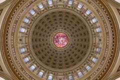 Wisconsin State Capitol inner dome detail Stock Image