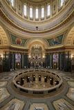 Wisconsin State Capitol rotunda and inner dome stock photo