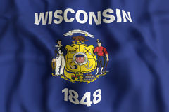 Wisconsin State flag Royalty Free Stock Photos
