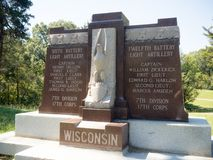 Wisconsin 6th & 12th batteri Arkivbilder