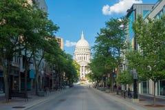 Wisconsin tillståndsKapitolium i Madison, Wisconsin royaltyfri foto