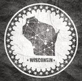 Wisconsin tillst?nds?versikt stock illustrationer