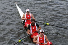 Wisconsin University races in the Head of Charles Regatta Stock Image