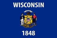 Wisconsin vector flag. Vector illustration. United States of America stock illustration