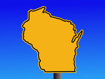 Wisconsin warning sign Royalty Free Stock Photos