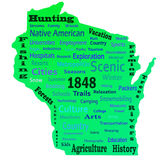 Wisconsin Word Cloud royalty free stock photo