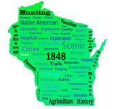 Wisconsin-Wort-Wolke Lizenzfreies Stockfoto
