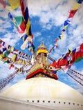 The wisdom eyes in Kathmadu Stock Images