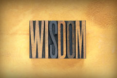 Wisdom Letterpress Stock Photos