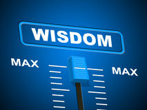 Wisdom Max Means Smartness Most And Wise Royalty Free Stock Photography