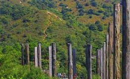 The wisdom path, lantau, hong kong Royalty Free Stock Images