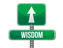 Wisdom road sign illustration design Stock Photo