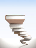 Wisdom stair. 3d image of books stair Royalty Free Stock Photography