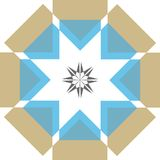 Wisdom star. Abstract star in geometric design on white background vector illustration