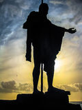 The wisdom of the statue of the Guanche King Royalty Free Stock Photos