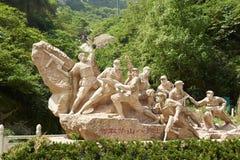 Wisdom taking Hua mountain sculpture Royalty Free Stock Photos
