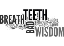 Wisdom Teeth Bad Breath Word Cloud Stock Images