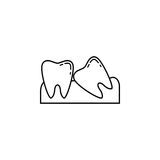 Wisdom teeth line icon. Dental and medicine, vector graphics, a linear pattern on a white background, eps 10 Vector Illustration