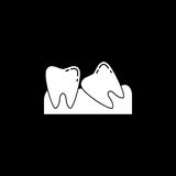 Wisdom teeth solid icon Royalty Free Stock Photos