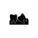 Wisdom teeth solid icon Stock Photos