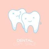 Wisdom tooth cartoon illustration Royalty Free Stock Photo
