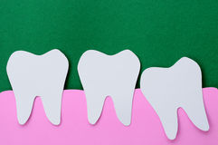 Wisdom tooth. Dental paper cut, wisdom tooth royalty free stock images