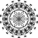 Wisdom towering eyes mandala stock illustration
