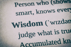 Wisdom word concept. Royalty Free Stock Images