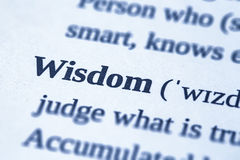 Wisdom word concept. Royalty Free Stock Photo
