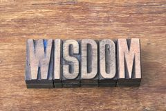 Wisdom word wood Stock Images