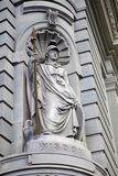 Wise classic statue. Statue of wisdom picture taken in Sidney Australia royalty free stock photo