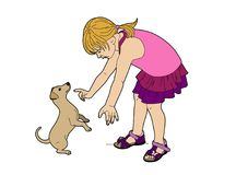 Wise dog. Vector illustration of a pet, file EPS 8 Stock Photography