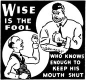 Wise Is The Fool Stock Photography