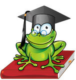 Wise frog  cartoon Royalty Free Stock Photography