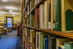 Wise Library at West Virginia University. The Robinson Reading Room at Wise Library on the campus of West Virginia University, known as WVU, in Morgantown, West stock image