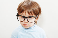Wise little boy Stock Image