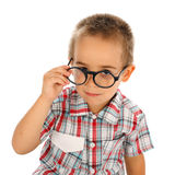 Wise little boy Royalty Free Stock Photo