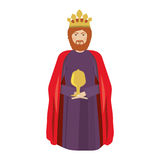 Wise man baltasar kneel down Royalty Free Stock Photography