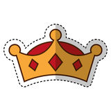 Wise man crown character Royalty Free Stock Photography
