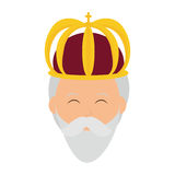 Wise man icon. Merry Christmas design. Vector graphic Stock Photos