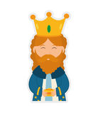 Wise man icon. Merry Christmas design. Vector graphic Royalty Free Stock Photography