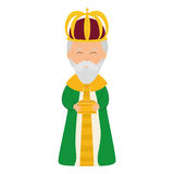 Wise man icon. Merry Christmas design. Vector graphic Royalty Free Stock Image