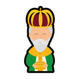 Wise man icon. Merry Christmas design. Vector graphic Royalty Free Stock Photos