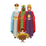 Wise man with offering a baby jesus Stock Photography